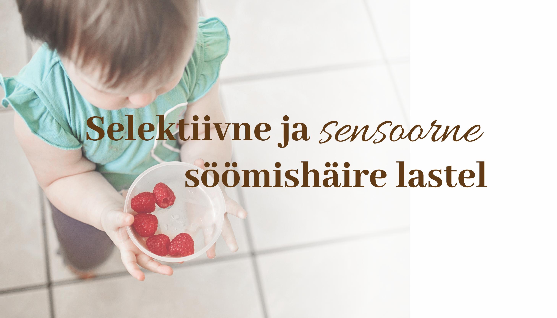 """Koolitusel """"Selektiivne ja sensoorne söömishäire lastel"""", mis toimub 12. oktoobril 2019, leiad vastused oma küsimustele."""