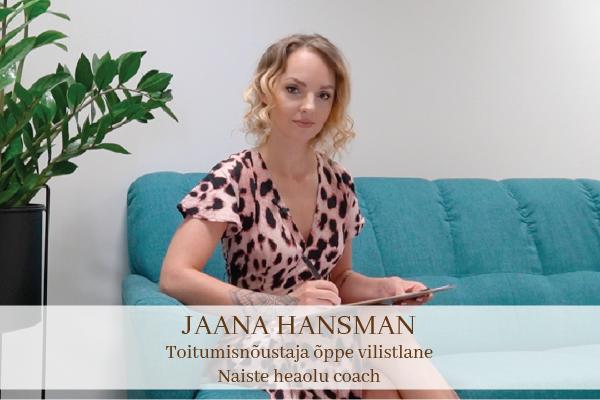 Jaana Hansman - toitumisnõustaja õppe vilistlane