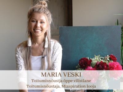 Maria Veski - Toitumisnõustaja õppe vilistlane